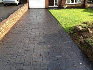 Blue Slate Concrete Imprinted Driveways in Codsall
