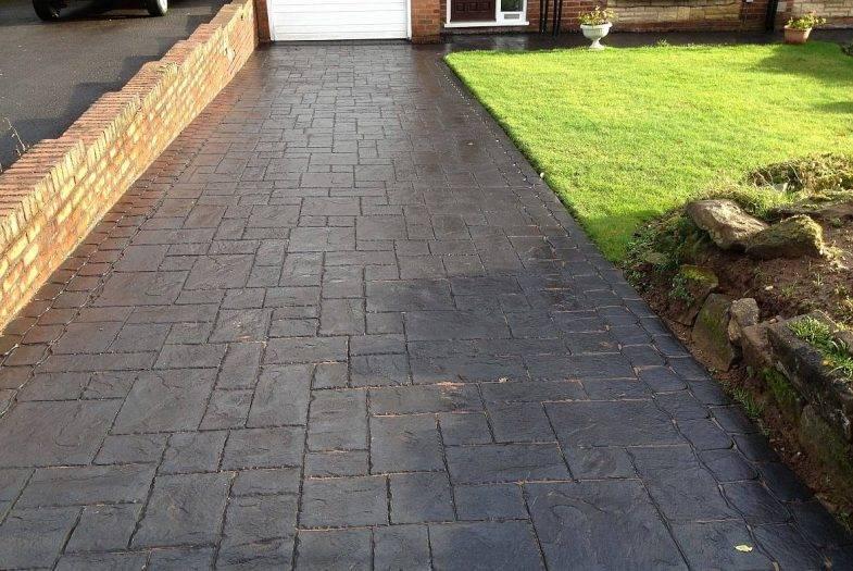 Blue Slate Concrete Imprinted Driveways in Codsall