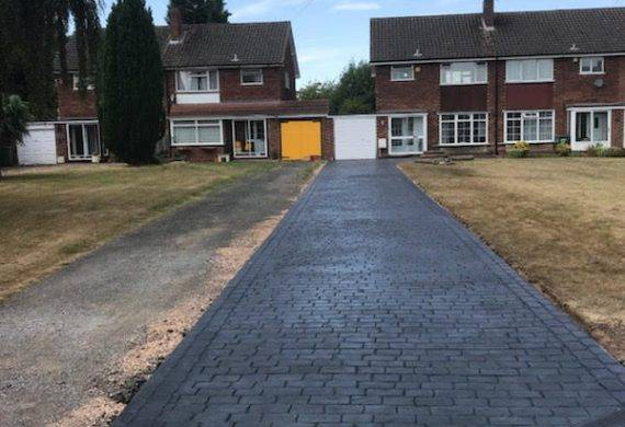 After we have installed our driveways in Wolverhampton
