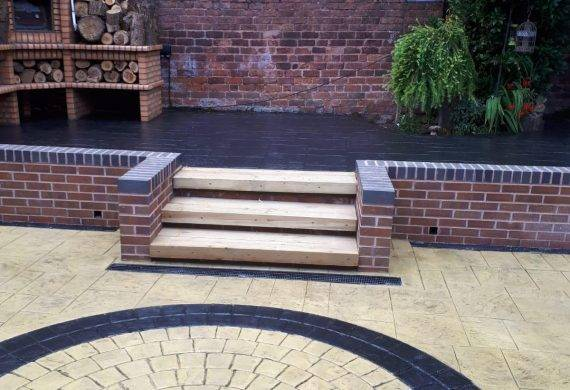 patio design - Cobblecrete