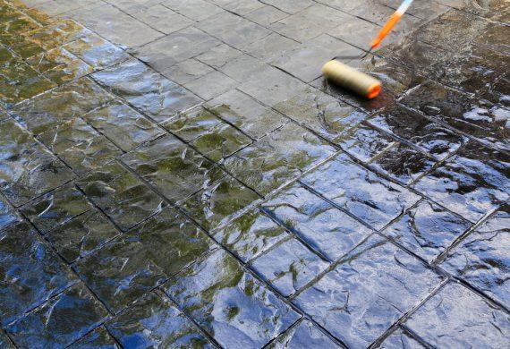 pattern imprinted concrete patios